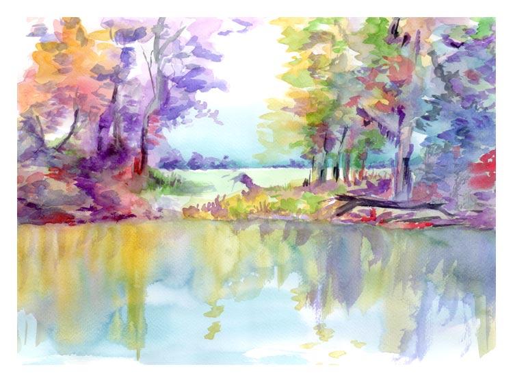 aqaurelle-paysage-eau
